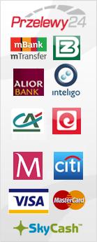 przelewy24 - płatności online do 84 banków, płatności kartą, paypal